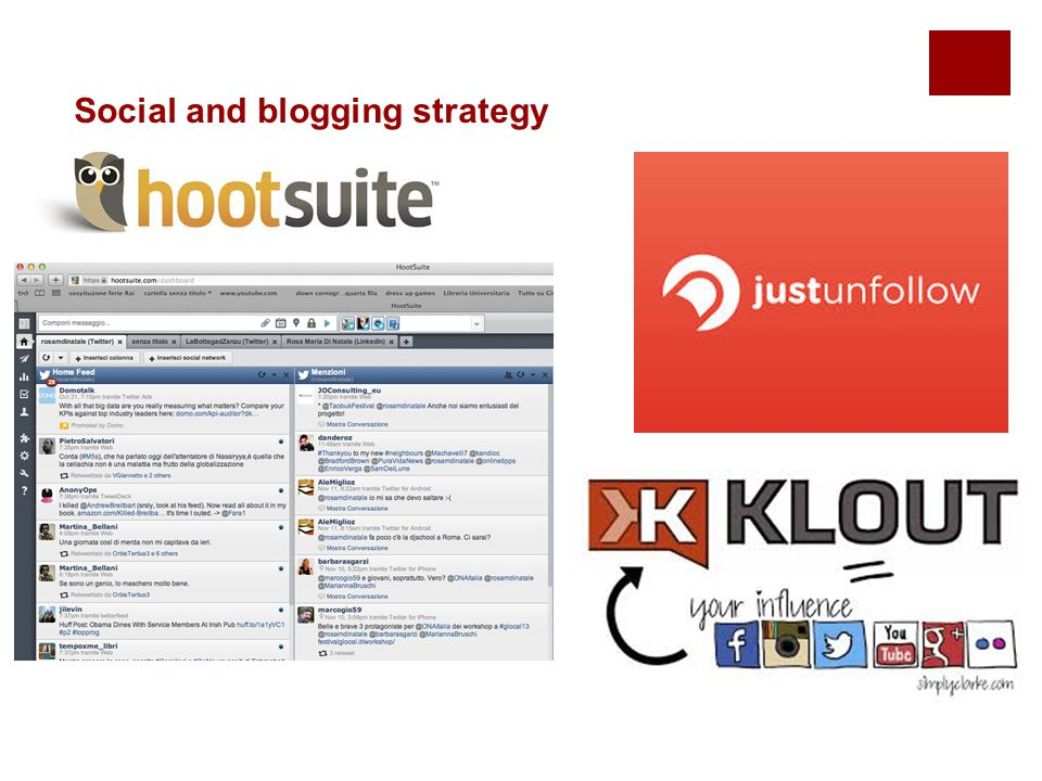 Social and blogging strategy