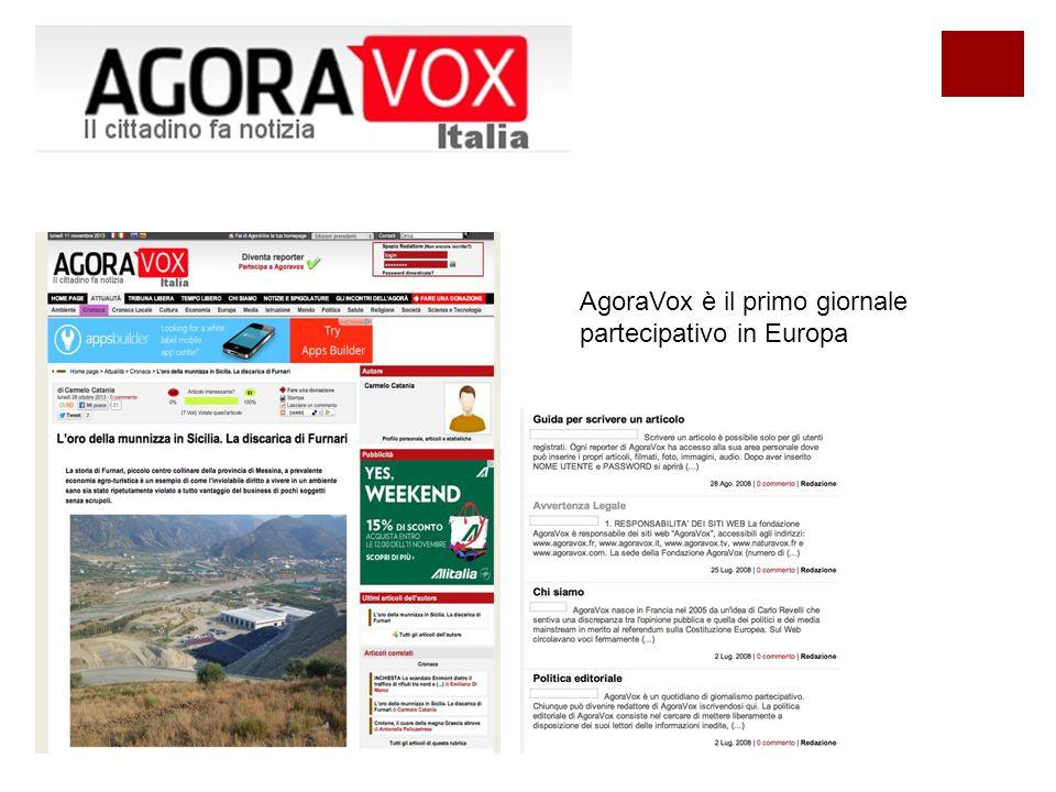 AgoraVox è il primo giornale partecipativo in Europa