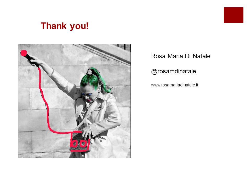 Rosa Maria Di Natale @rosamdinatale www.rosamariadinatale.it Thank you!