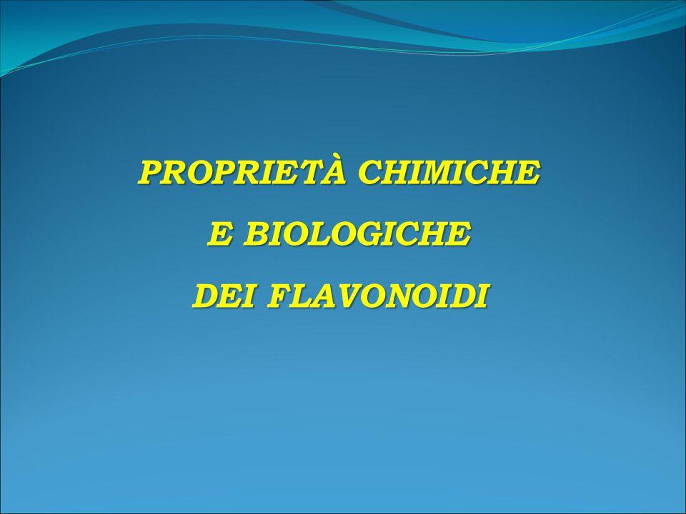 PROPRIETÀ CHIMICHE E BIOLOGICHE DEI FLAVONOIDI