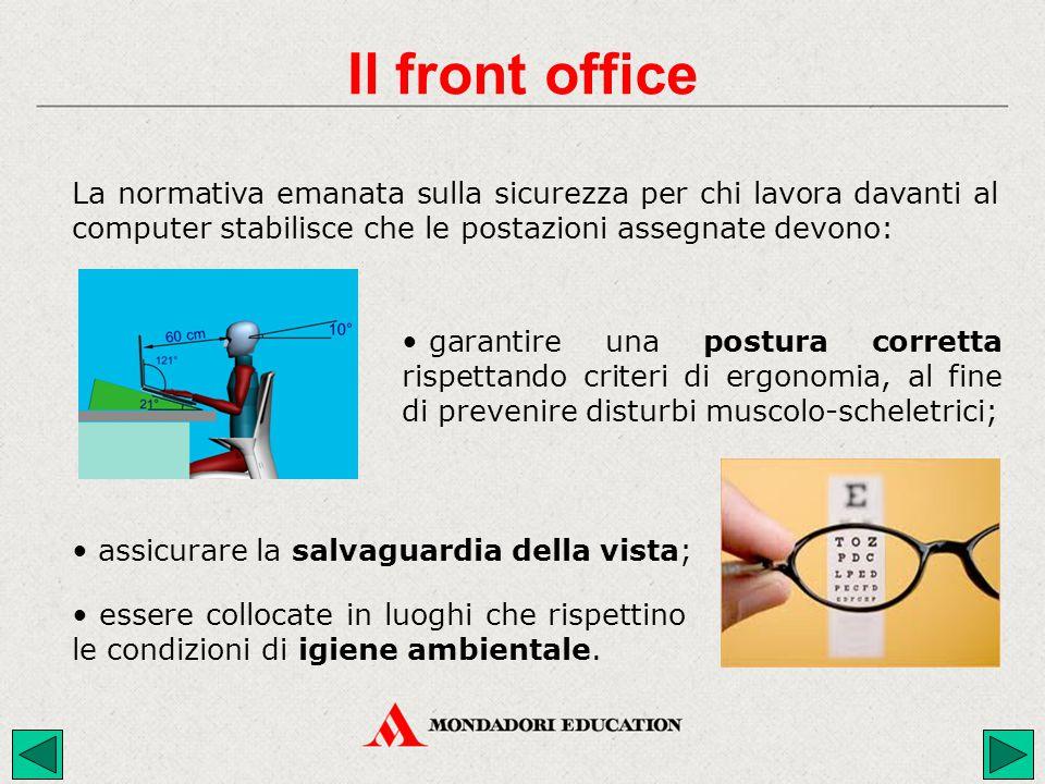 garantire una postura corretta rispettando criteri di ergonomia, al fine di prevenire disturbi muscolo-scheletrici; assicurare la salvaguardia della v