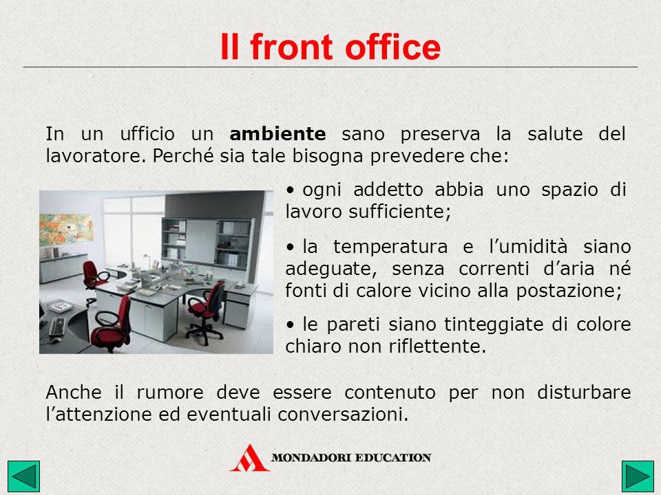 In un ufficio un ambiente sano preserva la salute del lavoratore. Perché sia tale bisogna prevedere che: Anche il rumore deve essere contenuto per non