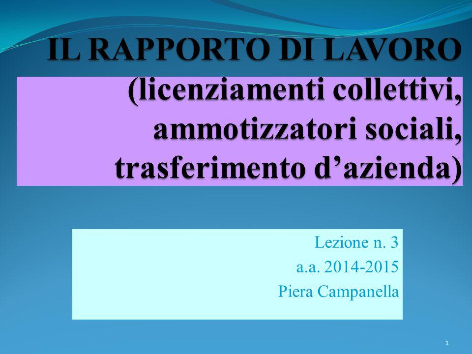 Lezione n. 3 a.a. 2014-2015 Piera Campanella 1