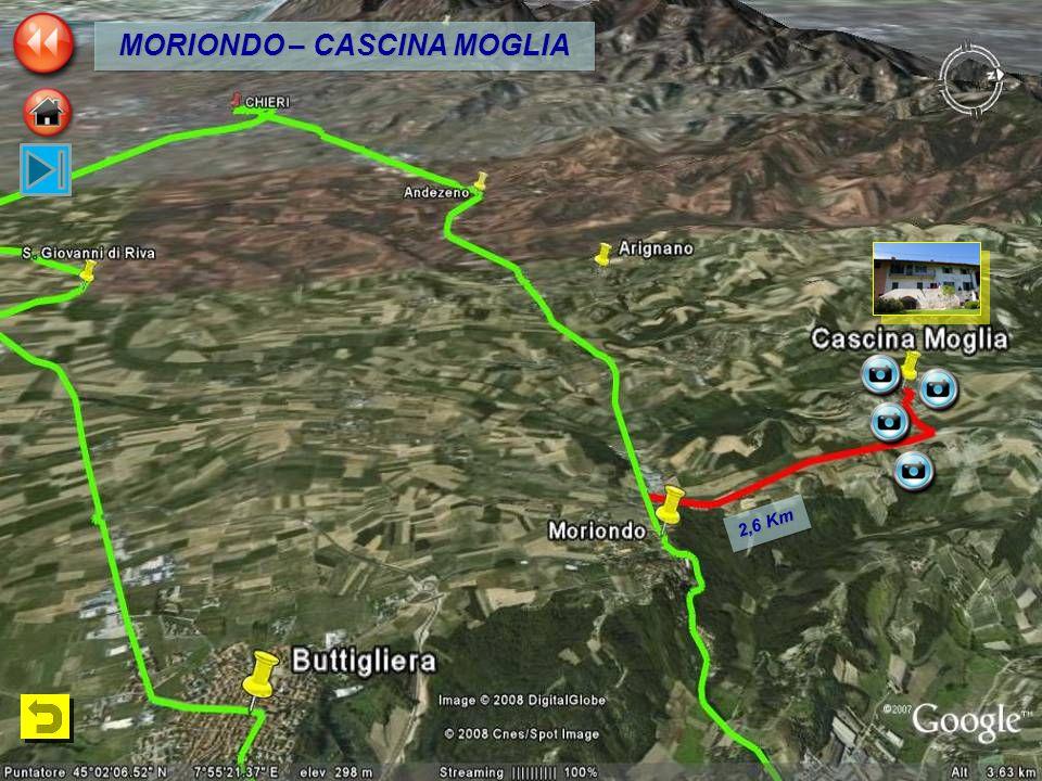 2,6 Km MORIONDO – CASCINA MOGLIA