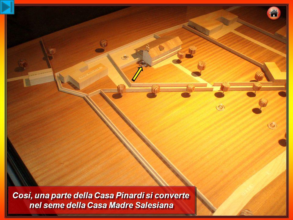 Così, una parte della Casa Pinardi si converte nel seme della Casa Madre Salesiana Così, una parte della Casa Pinardi si converte nel seme della Casa