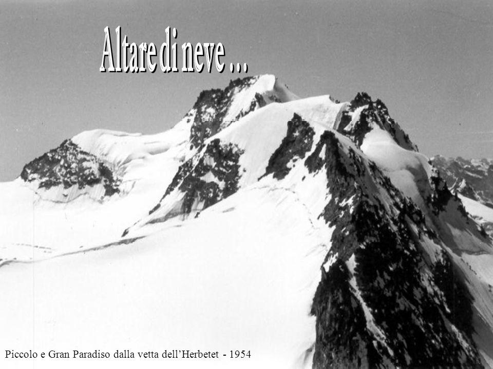 Piccolo e Gran Paradiso dalla vetta dell'Herbetet - 1954