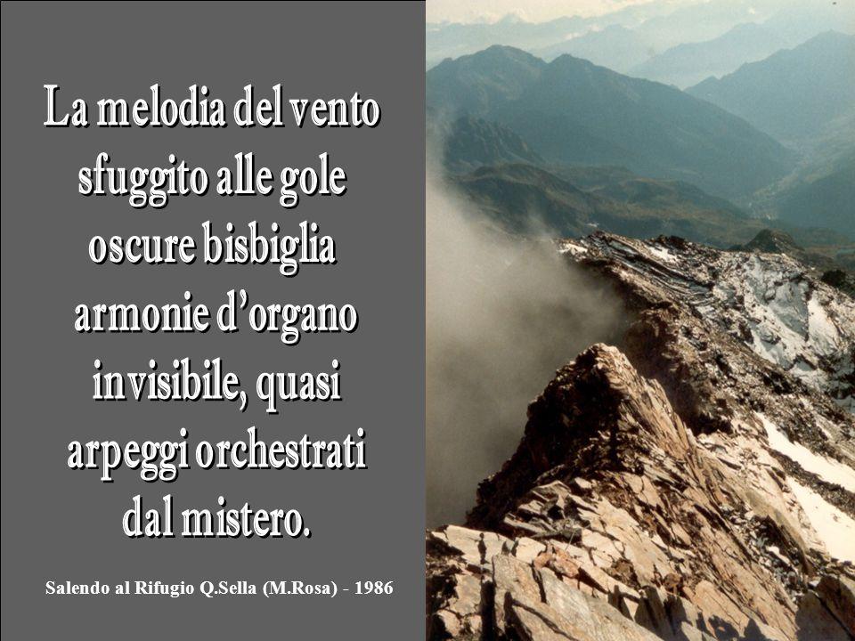 Salendo al Rifugio Q.Sella (M.Rosa) - 1986