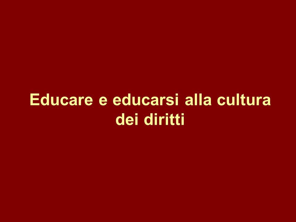 Educare e educarsi alla cultura dei diritti