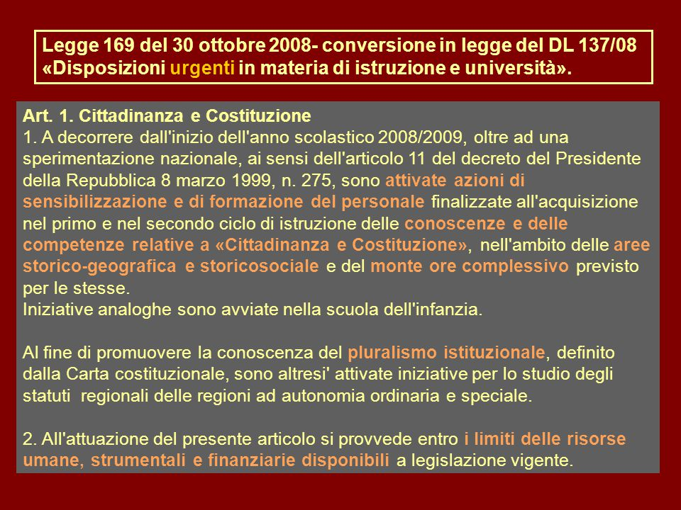 Art. 1. Cittadinanza e Costituzione 1.