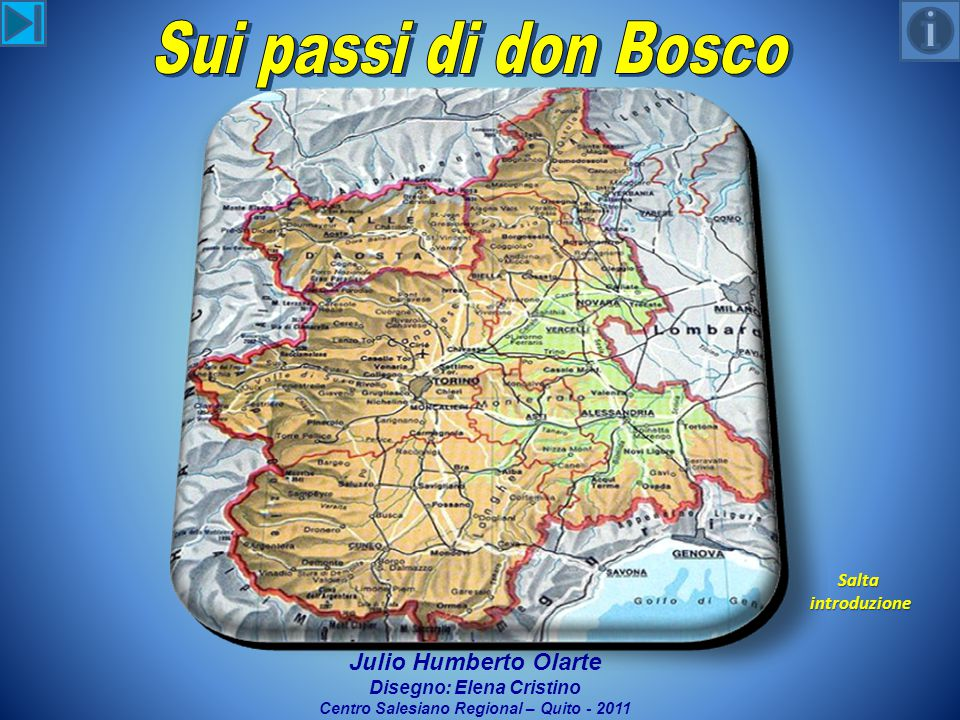 Salta introduzione introduzione Julio Humberto Olarte Disegno: Elena Cristino Centro Salesiano Regional – Quito - 2011
