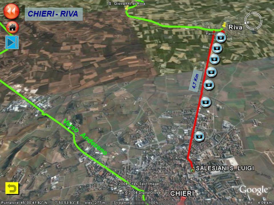 4,7 Km CHIERI - RIVA Verso Andezeno