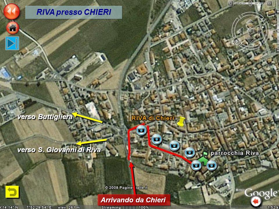 verso S. Giovanni di Riva Arrivando da Chieri verso Buttigliera RIVA presso CHIERI