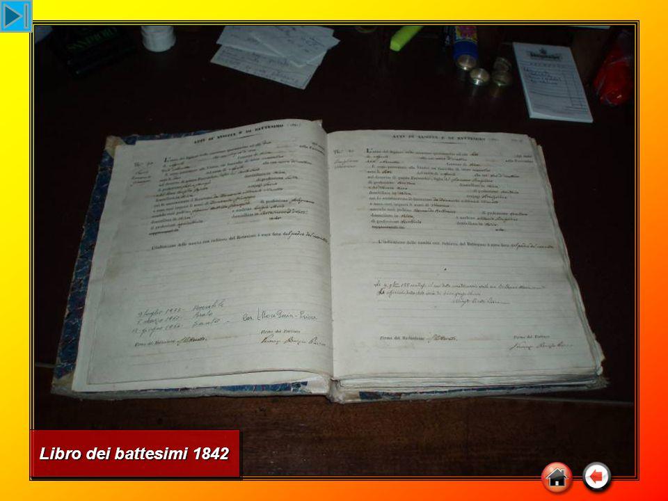 Libro dei battesimi 1842