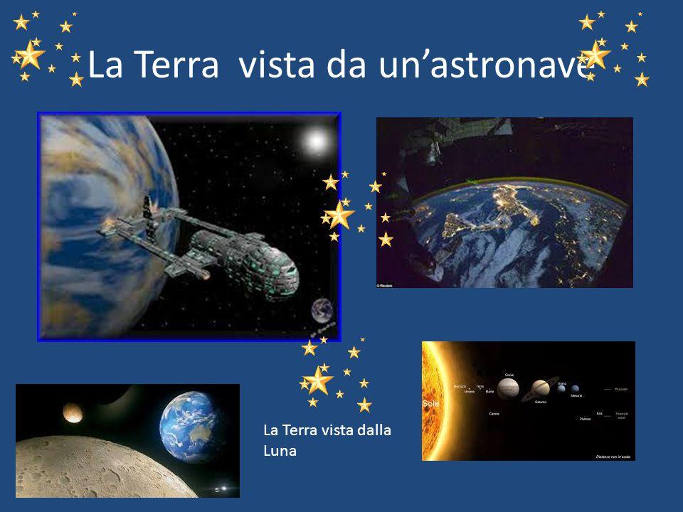 La Terra vista da un'astronave La Terra vista dalla Luna