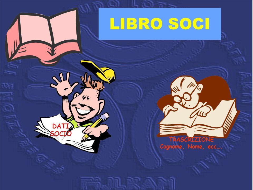 LIBRO SOCI TRASCRIZIONE Cognome, Nome, ecc…. DATI SOCIO