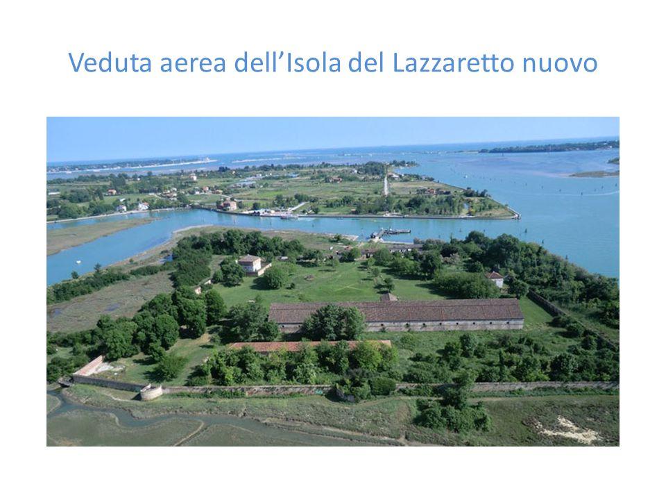 Veduta aerea dell'Isola del Lazzaretto nuovo
