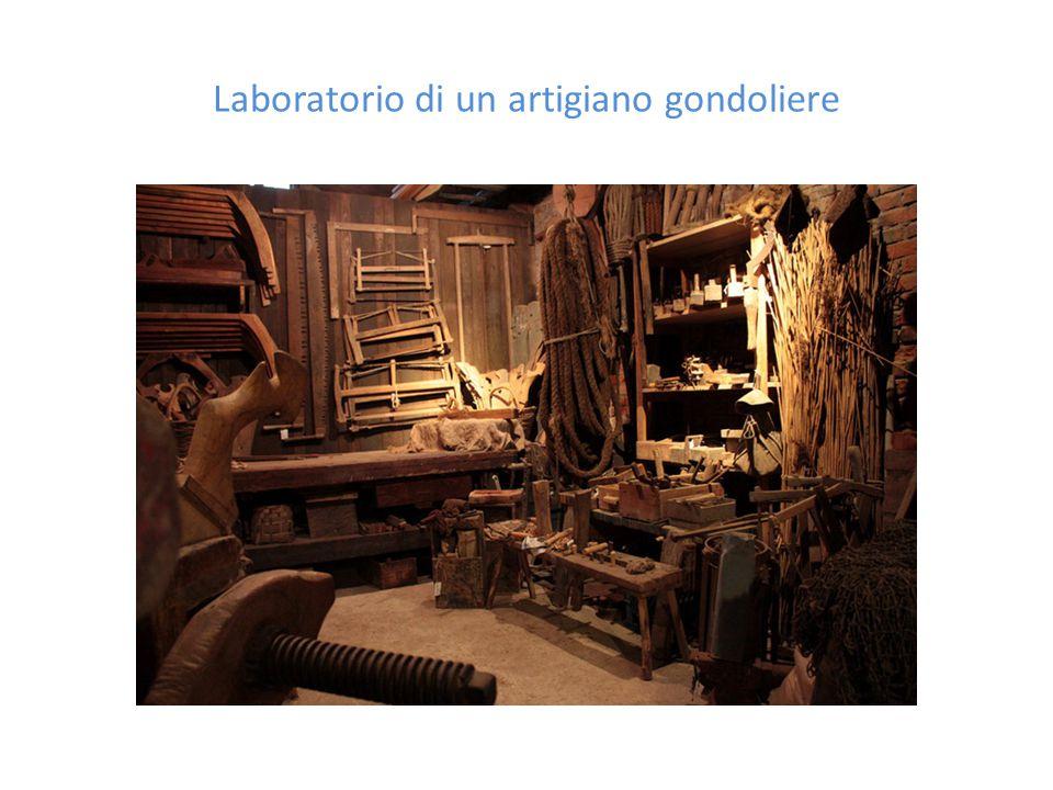Laboratorio di un artigiano gondoliere