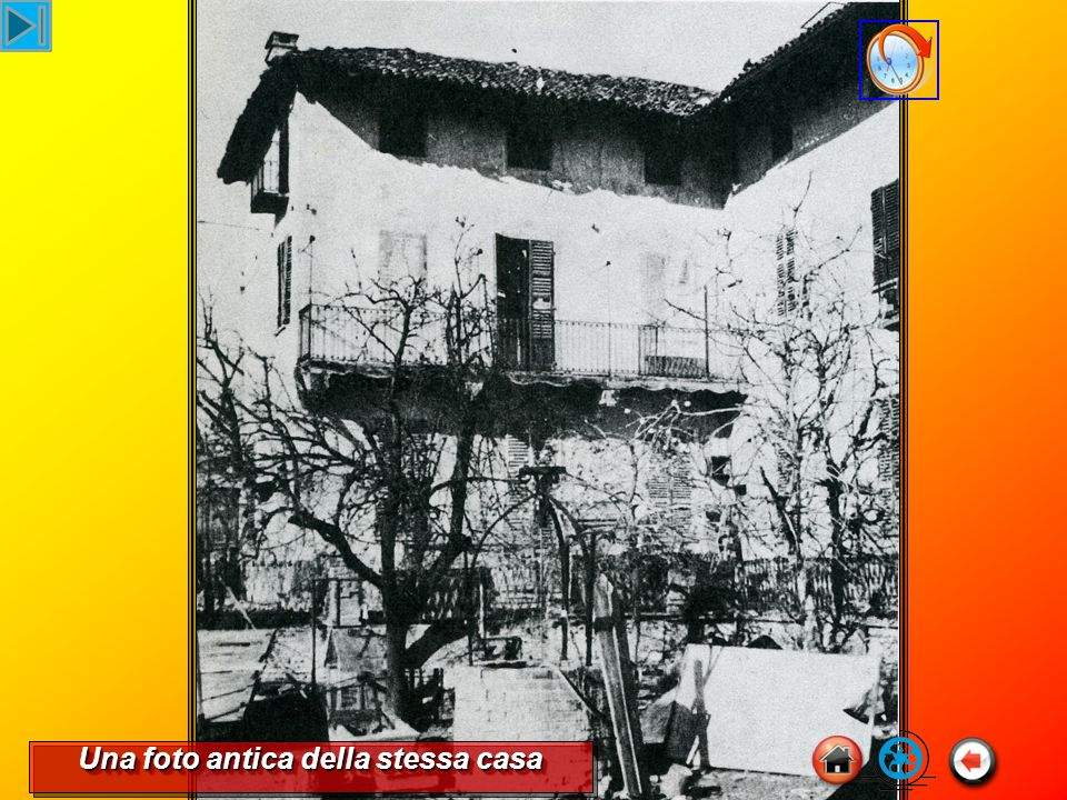 Una foto antica della stessa casa