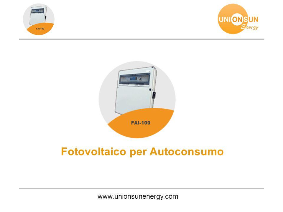 www.unionsunenergy.com Fotovoltaico per Autoconsumo