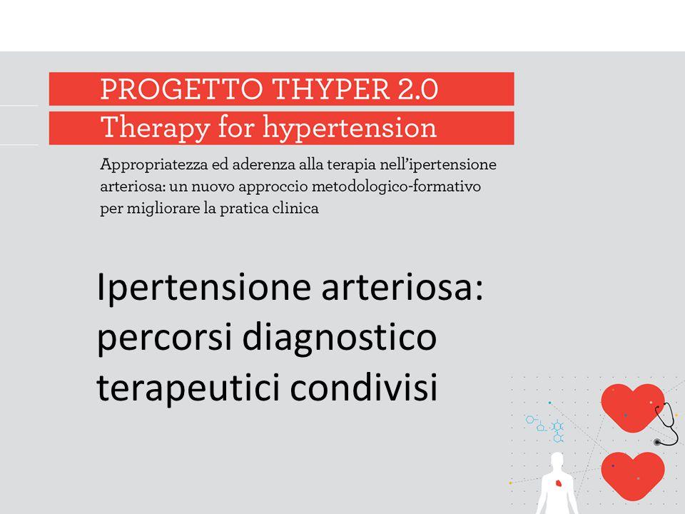 Ipertensione arteriosa: percorsi diagnostico terapeutici condivisi