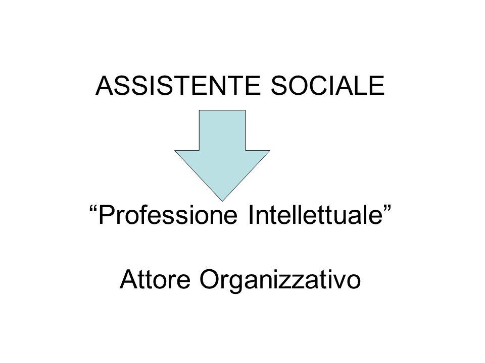 """ASSISTENTE SOCIALE """"Professione Intellettuale"""" Attore Organizzativo"""