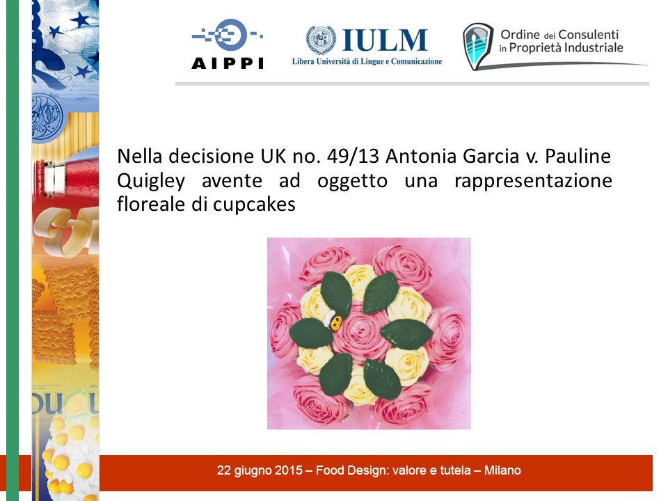 Nella decisione UK no.49/13 Antonia Garcia v.