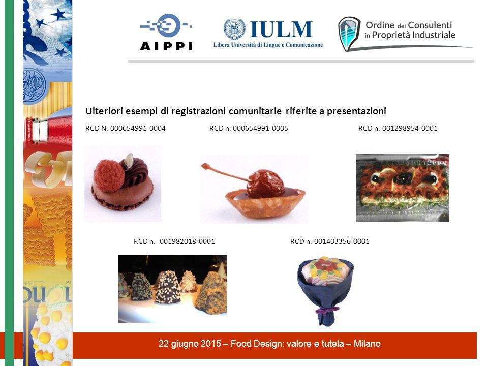 Ulteriori esempi di registrazioni comunitarie riferite a presentazioni RCD N.