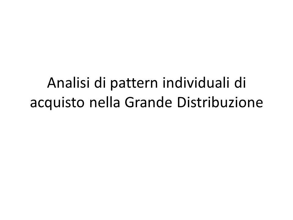 Analisi di pattern individuali di acquisto nella Grande Distribuzione