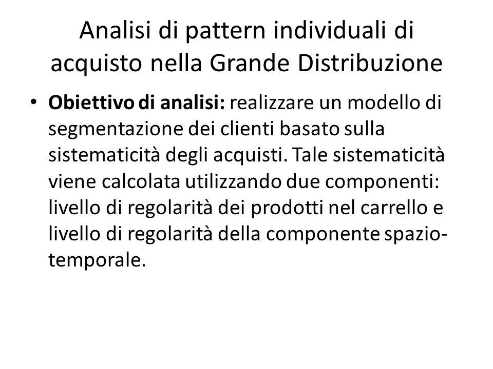 Obiettivo di analisi: realizzare un modello di segmentazione dei clienti basato sulla sistematicità degli acquisti.