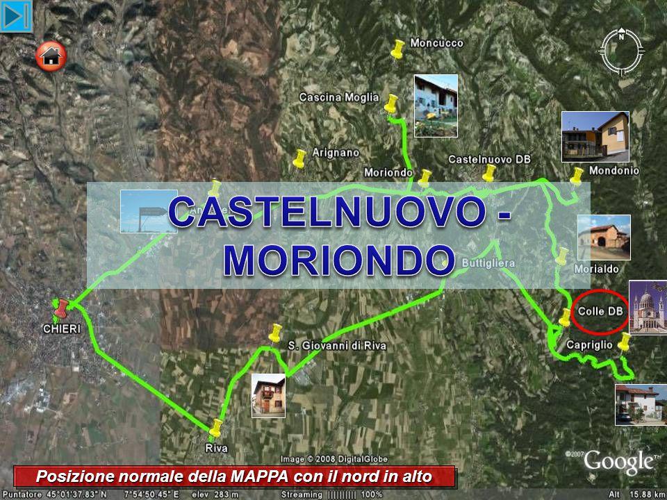 ... Passato Moriondo a questo incrocio si svolta alla destra verso Moncucco