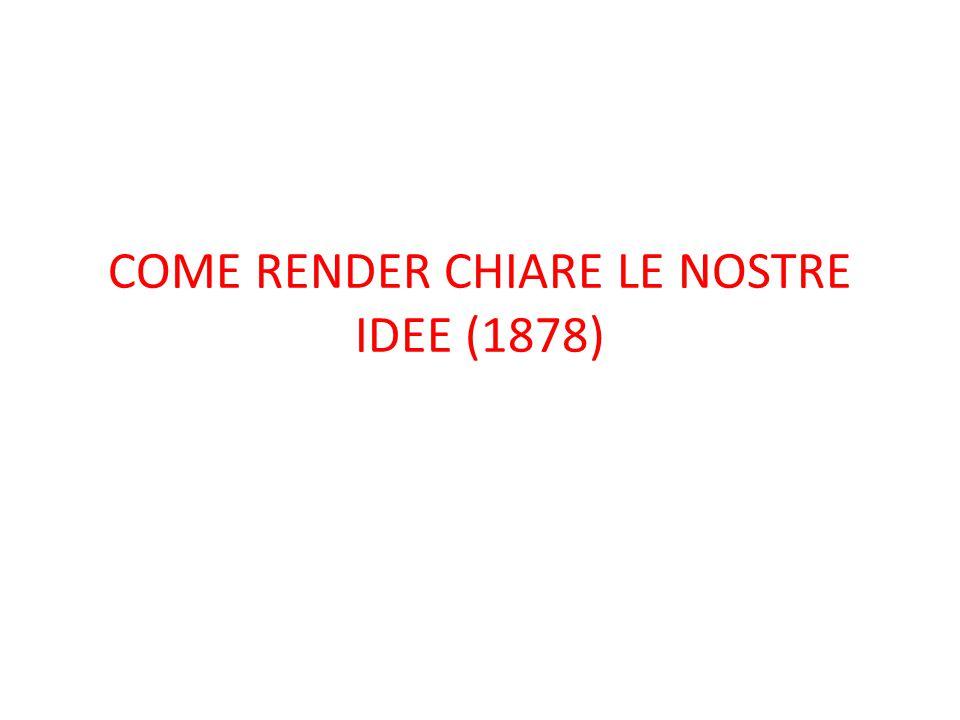COME RENDER CHIARE LE NOSTRE IDEE (1878)