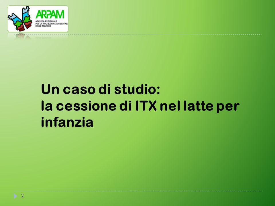 2 Un caso di studio: la cessione di ITX nel latte per infanzia
