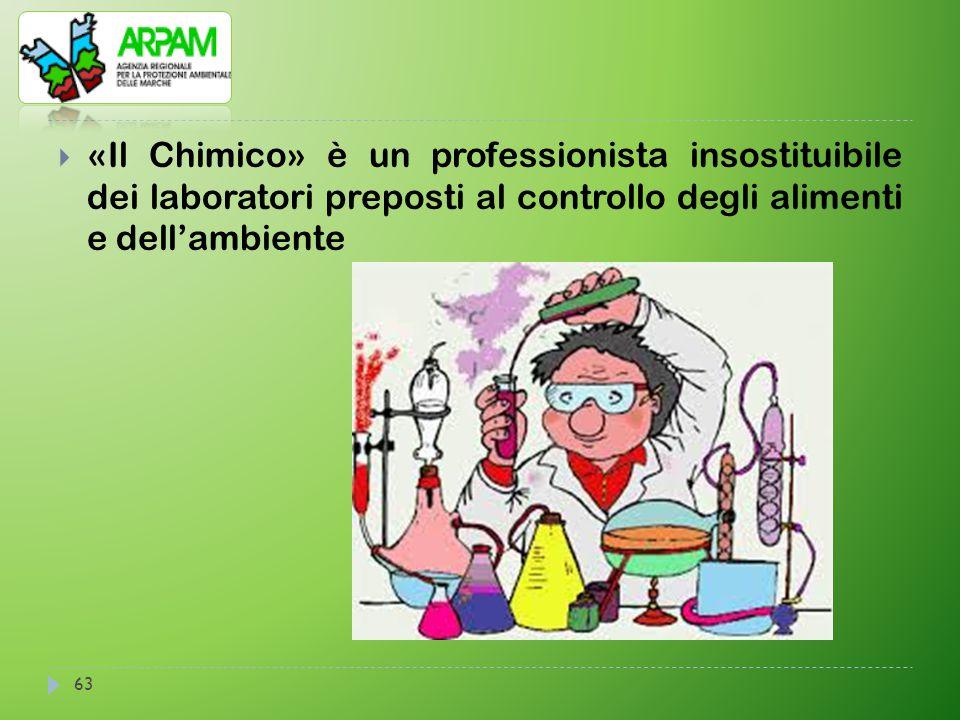 63  «Il Chimico» è un professionista insostituibile dei laboratori preposti al controllo degli alimenti e dell'ambiente
