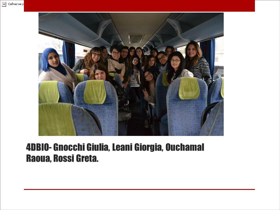 4DBIO- Gnocchi Giulia, Leani Giorgia, Ouchamal Raoua, Rossi Greta.
