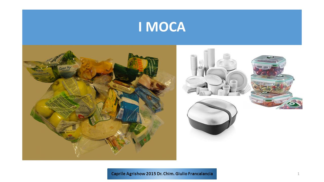 I MOCA 1 Caprile Agrishow 2015 Dr. Chim. Giulio Francalancia