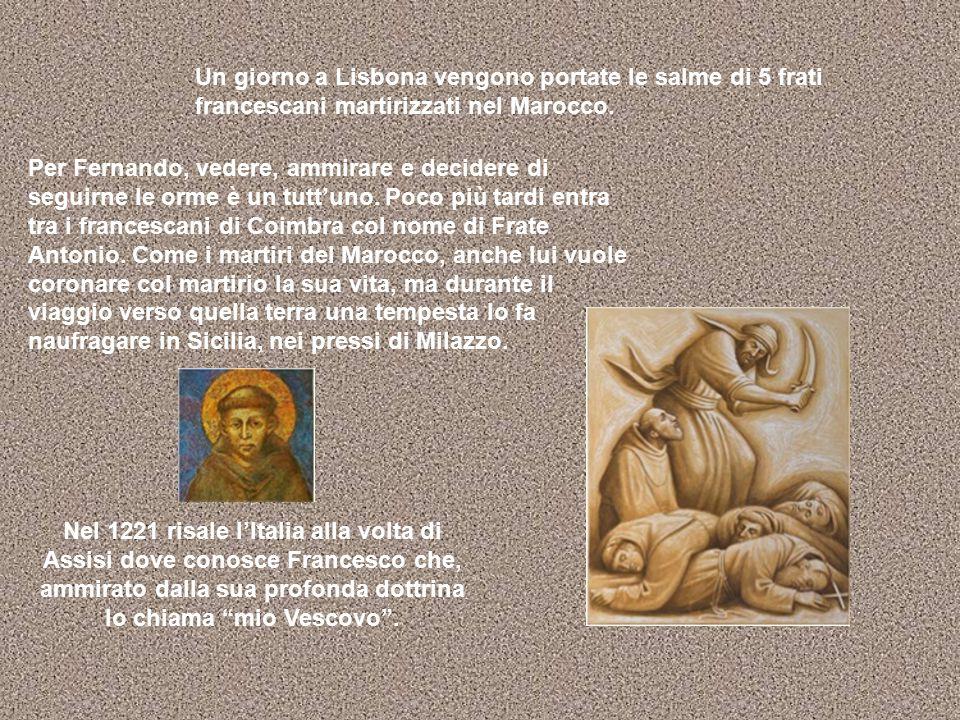 Da Assisi Antonio è destinato al convento Romitorio di Montepaolo, vicino Forlì, che è abitato da fratelli laici bisognosi di un sacerdote per la Messa.