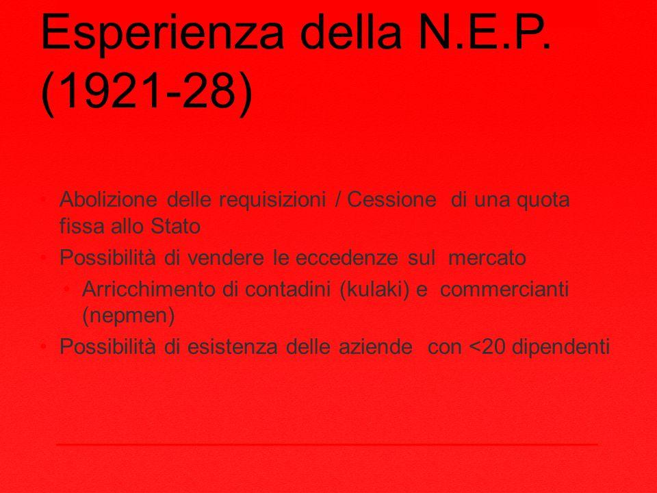 Esperienza della N.E.P.
