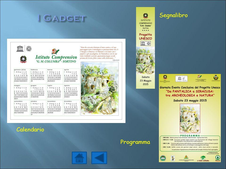 Segnalibro Calendario Programma