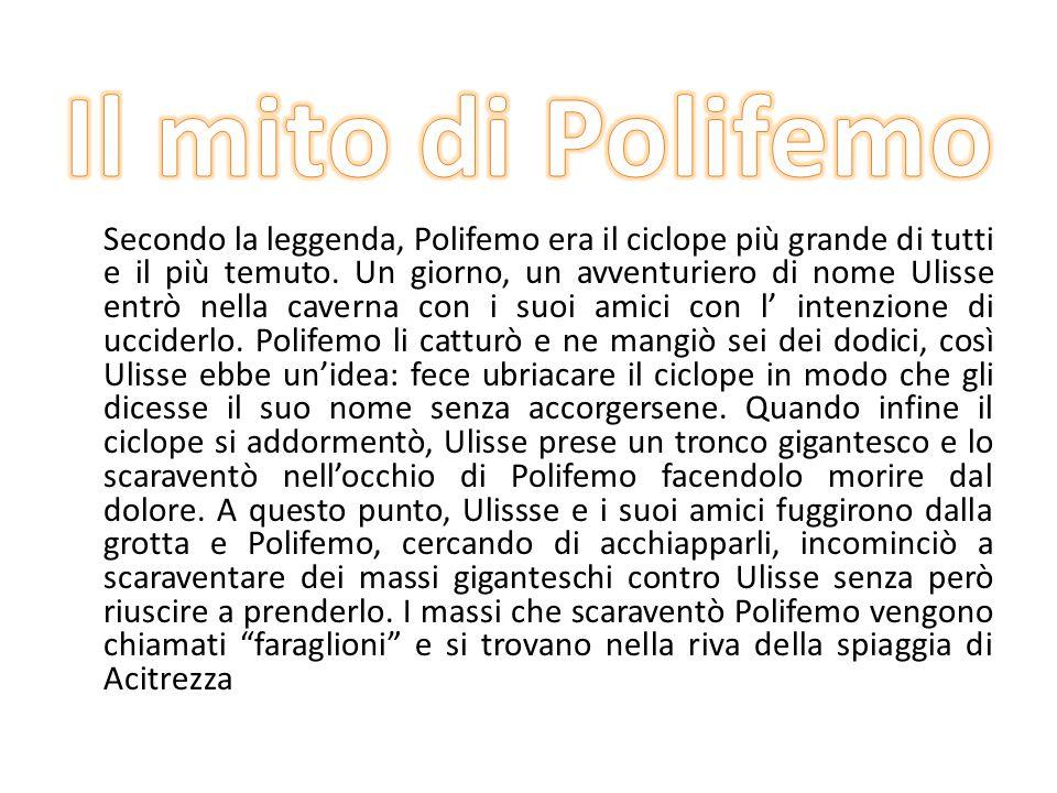 Secondo la leggenda, Polifemo era il ciclope più grande di tutti e il più temuto.