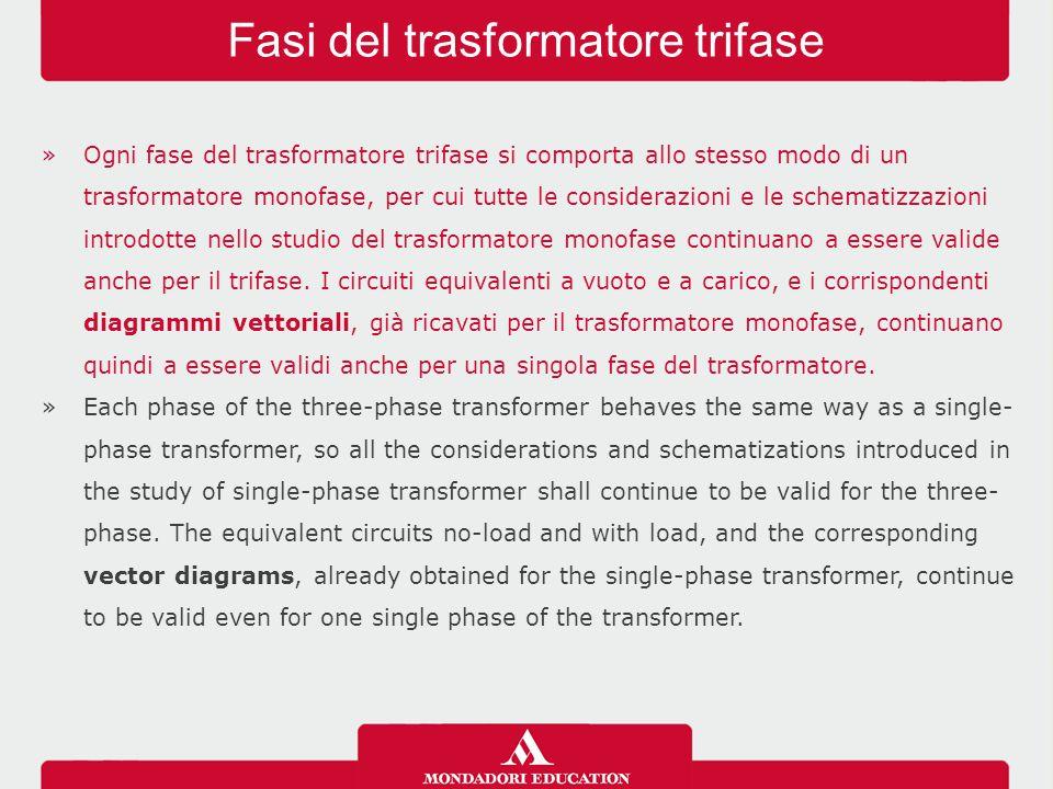 »Ogni fase del trasformatore trifase si comporta allo stesso modo di un trasformatore monofase, per cui tutte le considerazioni e le schematizzazioni
