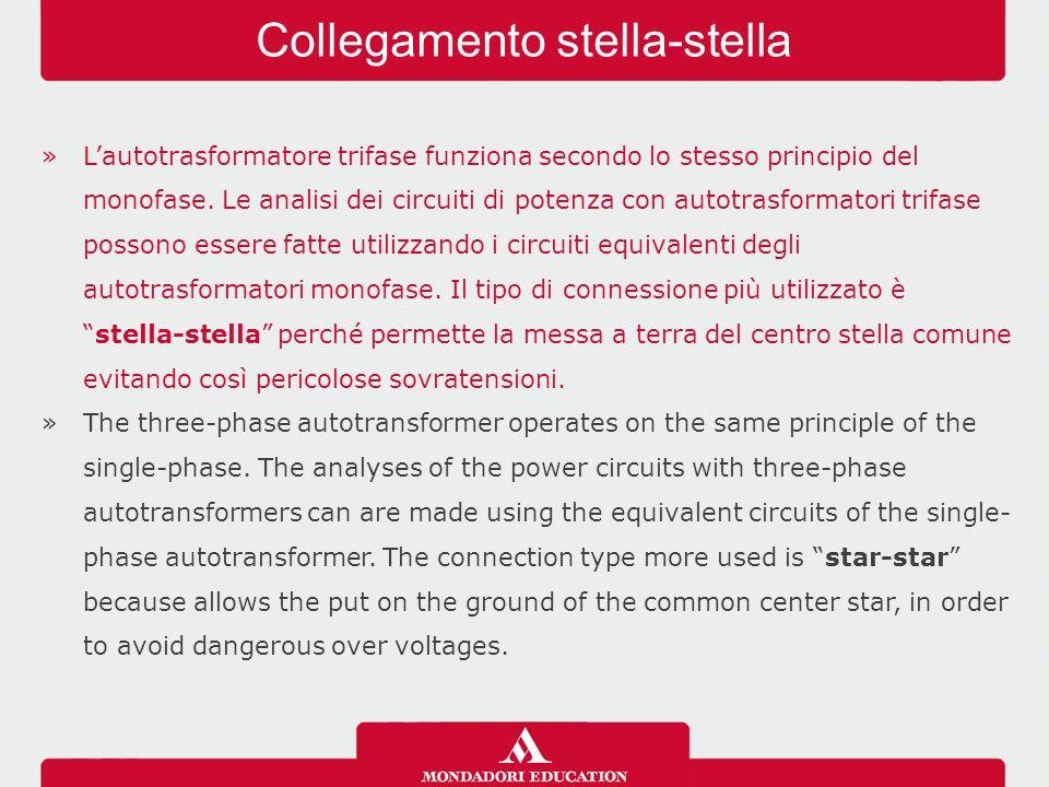 »L'autotrasformatore trifase funziona secondo lo stesso principio del monofase. Le analisi dei circuiti di potenza con autotrasformatori trifase posso