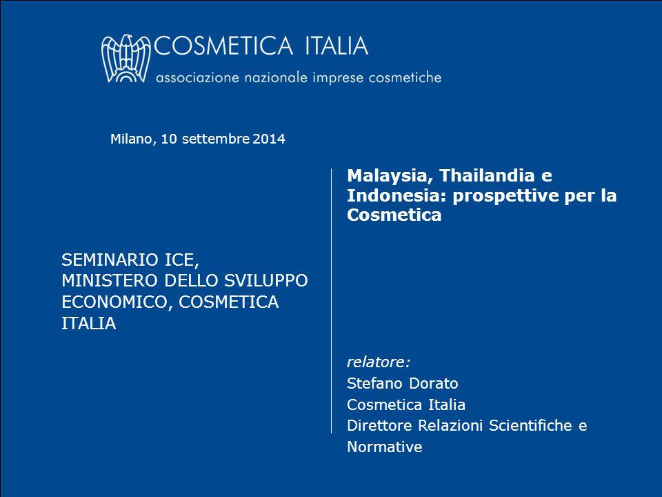 ASEAN Harmonized Regulatory Scheme One single Regulatory Scheme 10 Settembre 2014Stefano Dorato2