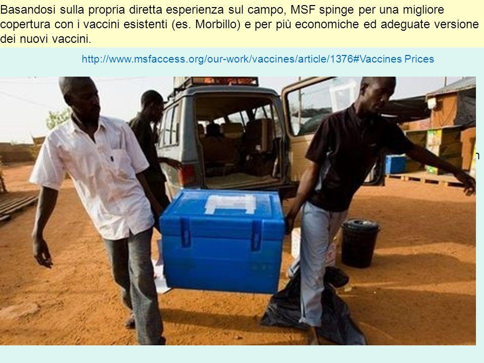 Basandosi sulla propria diretta esperienza sul campo, MSF spinge per una migliore copertura con i vaccini esistenti (es.