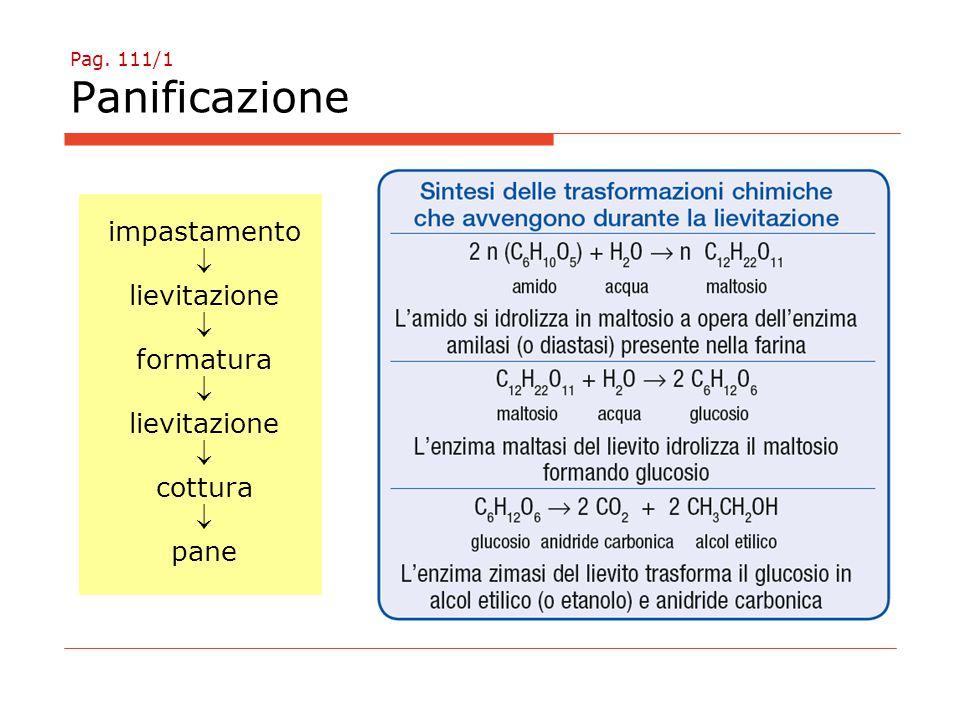 Pag. 111/1 Panificazione impastamento  lievitazione  formatura  lievitazione  cottura  pane