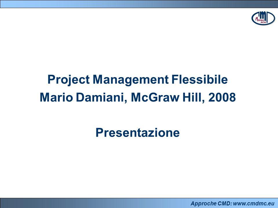 Approche CMD: www.cmdmc.eu L'approccio CMD pensareorganizzarsi lavorare Cultura, valori, abitudini, approcci Sistema: regole di funzionamento Metodologie, tecniche e strumenti Un modo di Project Management