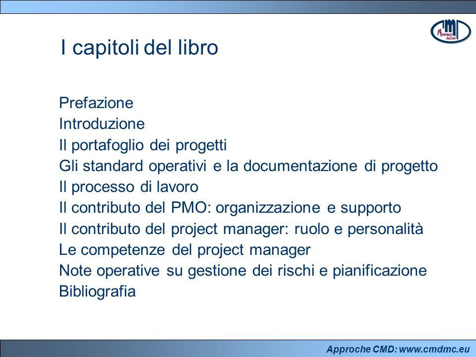 Approche CMD: www.cmdmc.eu Prefazione Introduzione Il portafoglio dei progetti Gli standard operativi e la documentazione di progetto Il processo di l