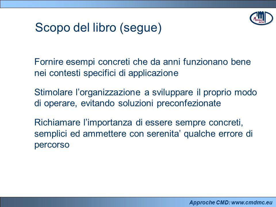 Approche CMD: www.cmdmc.eu Scopo del libro (segue) Fornire esempi concreti che da anni funzionano bene nei contesti specifici di applicazione Stimolar