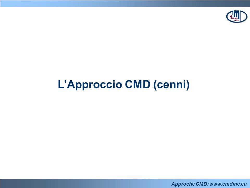 Approche CMD: www.cmdmc.eu L'approccio CMD Execution – il PM ha il compito fondamentale di diffondere e supportare l'idea che l'Execution è: un aspetto fondamentale dell'impianto strategico, in quanto condiziona in modo decisivo la reale fattibilità del progetto sin dalle fasi iniziali un processo che si snoda lungo l'intero ciclo di vita del progetto e che porta il committente a formulare idee plausibili, il project manager a discuterne e a negoziarne la fattibilità, gli altri attori sociali a essere focalizzati sui risultati che devono produrre una responsabilità collettiva, in base a cui tutti gli attori sociali coinvolti sono chiamati ad esercitare il giusto livello di ownership