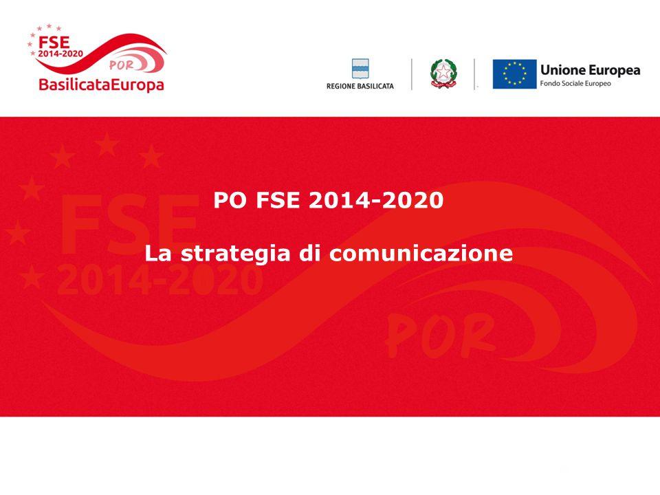 PO FSE 2014-2020 La strategia di comunicazione