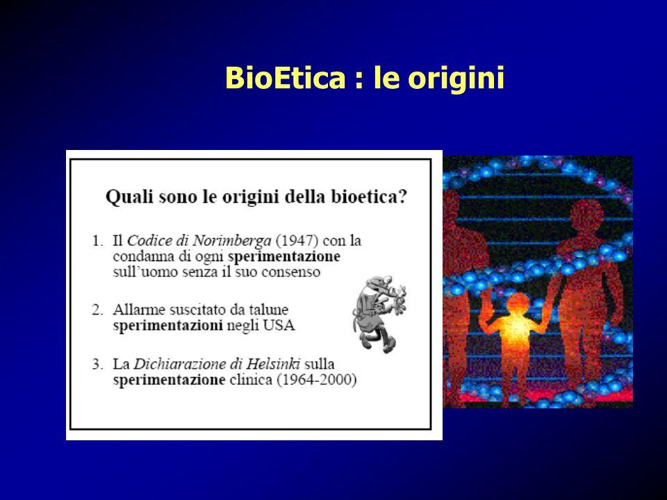 BioEtica : le origini